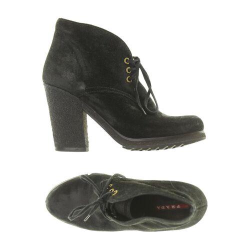Prada Damen Stiefelette schwarz Leder DE 36