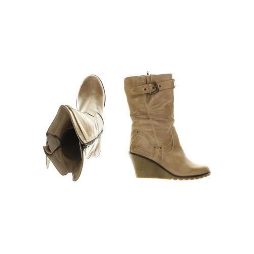 TIMEZONE Damen Stiefel beige Leder DE 41