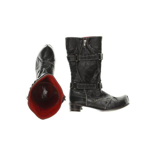 Tiggers Damen Stiefel schwarz Leder DE 37