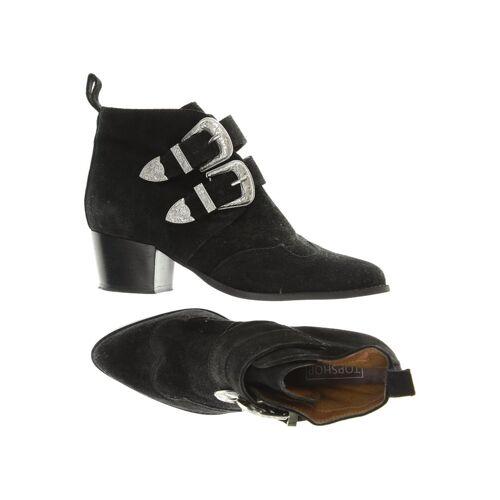 Topshop Damen Stiefelette schwarz Leder DE 36