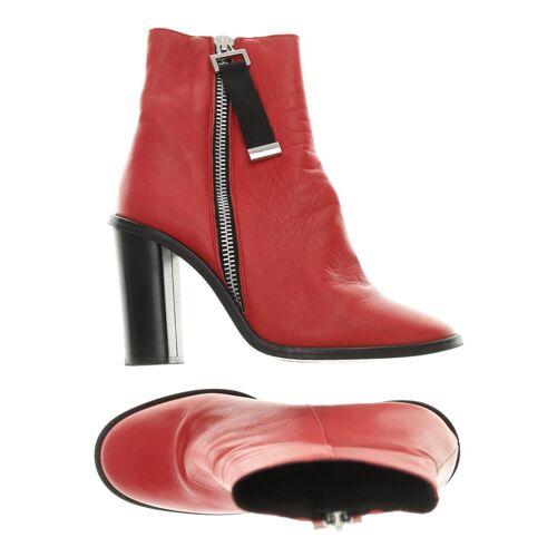 Topshop Damen Stiefelette rot Leder DE 41