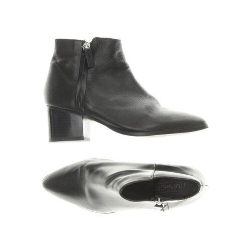 Topshop Damen Stiefelette schwarz Leder DE 37