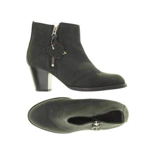 Topshop Damen Stiefelette schwarz Leder UK 7.5