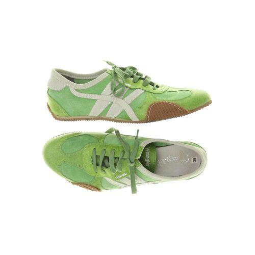 Wrangler Damen Sneakers grün Leder DE 37