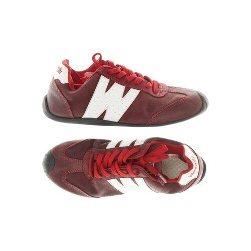 Wrangler Damen Sneakers rot Leder DE 40