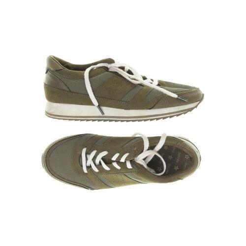 bershka Damen Sneakers grün kein Etikett DE 38