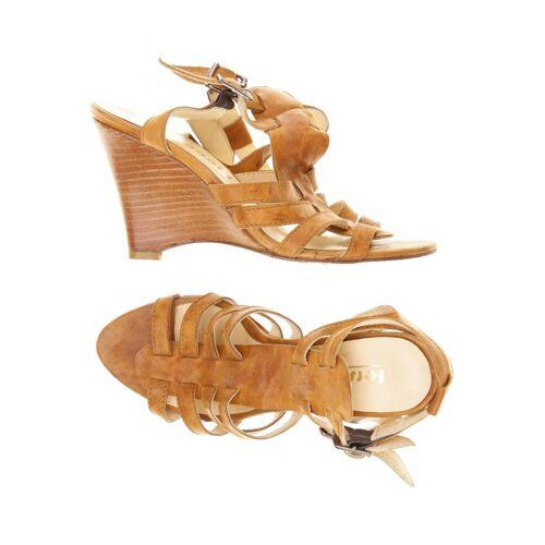 fersengold Damen Sandale braun Leder DE 38