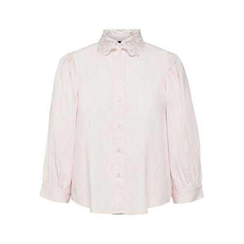 SELECTED Richelieustickerei Hemd Damen Pink