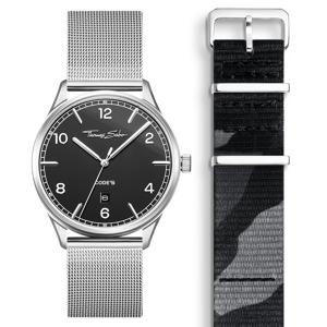 Thomas Sabo SET CODE TS schwarze Uhr & camouflage Armband titanfarben SET0580-201-30-40 MM