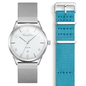 Thomas Sabo SET CODE TS weiße Uhr & türkises Armband hellgrün SET0570-201-17-40 MM