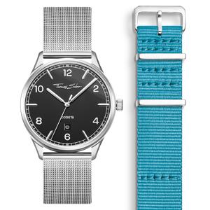 Thomas Sabo SET CODE TS schwarze Uhr & türkises Armband hellgrün SET0577-201-17-40 MM