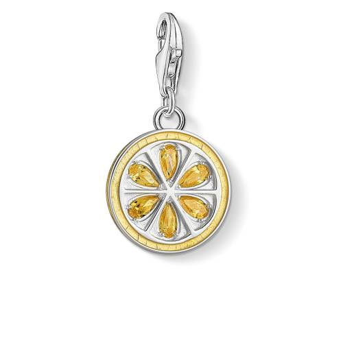 Thomas Sabo Charm-Anhänger Zitrone gelb 1835-041-4
