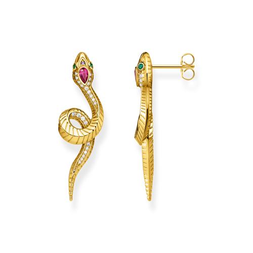 Thomas Sabo Ohrringe Schlange gold mehrfarbig H2124-488-7