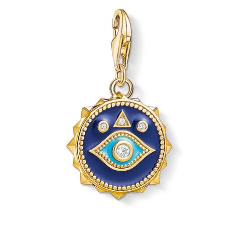 Thomas Sabo Charm-Anhänger Blaues Nazar Auge dunkelblau 1663-565-32
