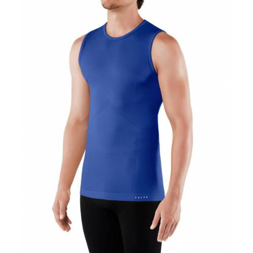 FALKE Herren Sport-Top Cool, L, Blau, Uni, 33742-671404