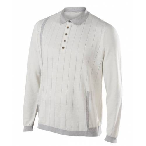 FALKE Camogli Herren Polo-Shirt, L, Weiß, Uni, 37115-286004