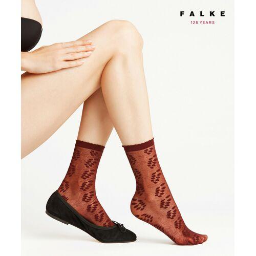 FALKE Dew Drops 15 DEN Damen Socken, 35-38, Rot, Blumen, 41437-859601