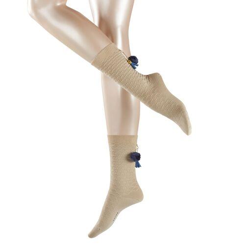 FALKE Wiesn Damen Socken, 39-42, Beige, Struktur, Schurwolle, 46543-432002