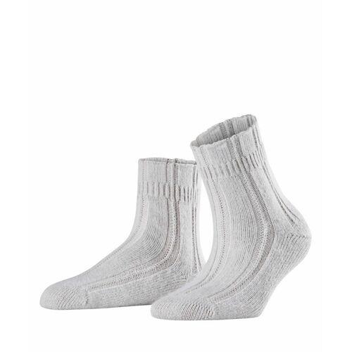 FALKE Bettsocken Damen Socken, 39-42, Grau, Uni, Angora, 47470-329002