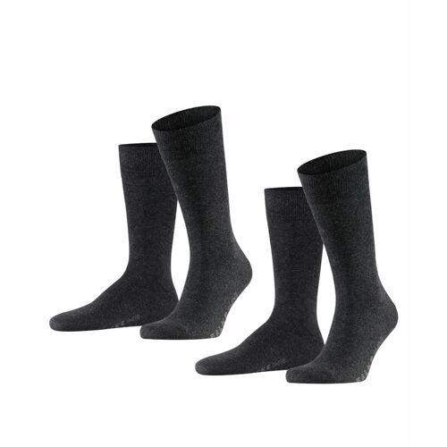 FALKE Swing 2-Pack Herren Socken, 39-42, Grau, Uni, 14633-308002