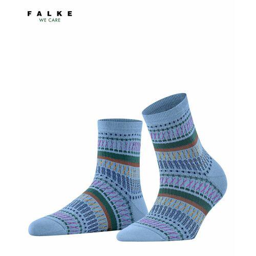 FALKE Loom Tape Damen Socken, 35-38, Blau, Jacquard, 46396-655401