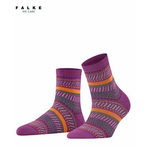 FALKE Loom Tape Damen Socken, 39-42, Lila, Jacquard, 46396-824202