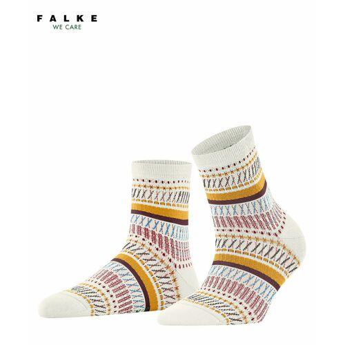 FALKE Loom Tape Damen Socken, 39-42, Weiß, Jacquard, 46396-204002