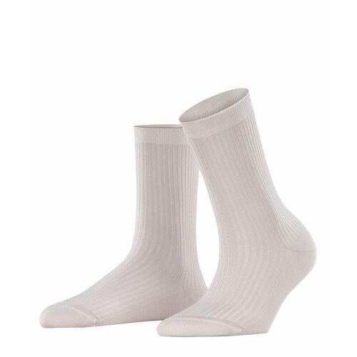 FALKE Shiny Rib Damen Socken, 35-38, Rot, Lurex, 46333-867001