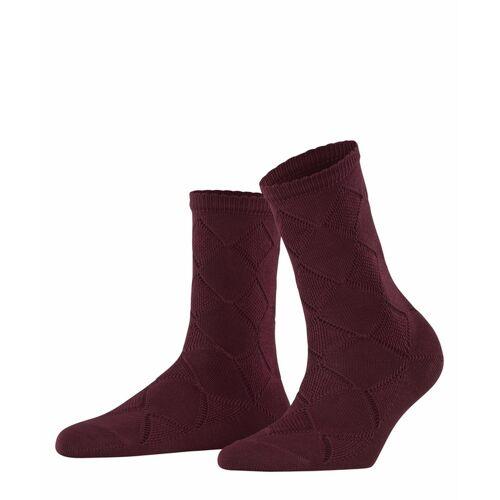 FALKE Argyle Corrosion Damen Socken, 39-42, Rot, Argyle, 46407-859602