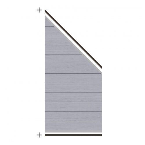 Traumgarten System WPC Zaunfeld-Set grau 2821 184-94x89cm;