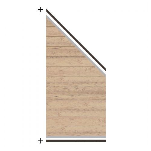 Traumgarten System WPC Zaunfeld-Set sand 2823 184-94x89cm;