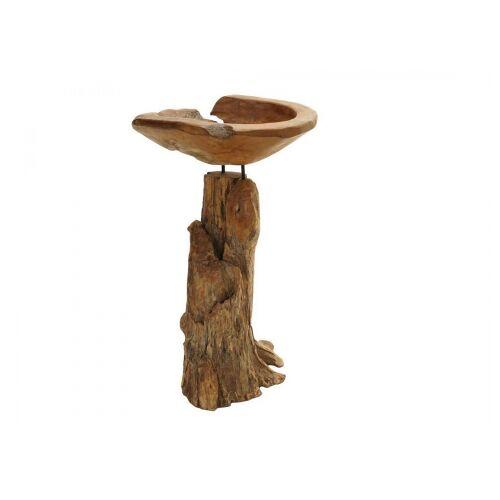 Ploss Ploß Teak Deko-Schale mit Holzstamm 1090042;