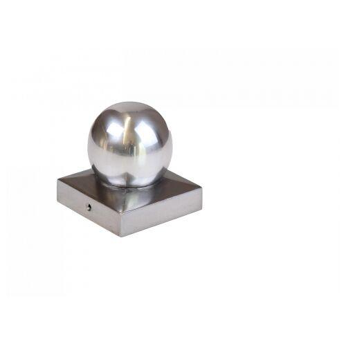 Mesem Pfostenkappe Kugelform Simon Aluminium 90x90mm;