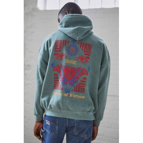 Urban Outfitters UO - Hoodie Fortune in Grün