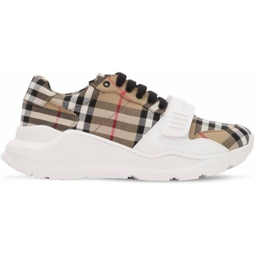 Burberry Hohe Sportschuhe mit Vintage Check-Muster