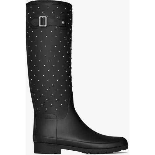 RIVE DROITE Hunter high boots in rubber with studs