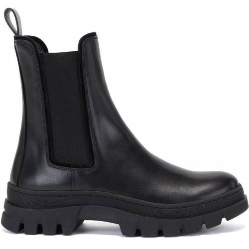 Boss by Hugo Boss Italian-leather Chelsea boots with rubber lug sole