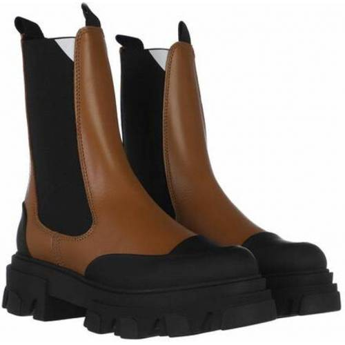 Ganni Mid Chelsea Boots Calf Leather