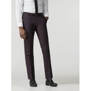 Ben Sherman Main Line Mulberry Crepe Weave Camden Fit Trouser 40L Mulberry