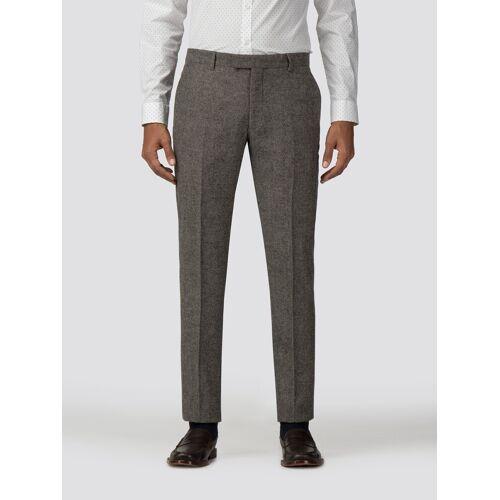 Ben Sherman Main Line Oatmeal Tweed Donegal Camden Trouser 28S Oatmeal