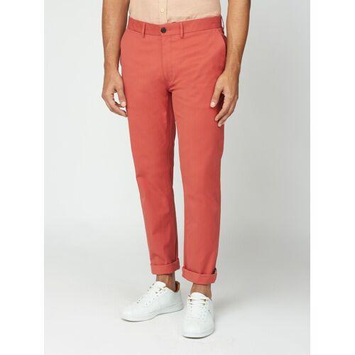 Ben Sherman Signature Teracotta Red Slim Stretch Cotton Chinos 36L Teracotta