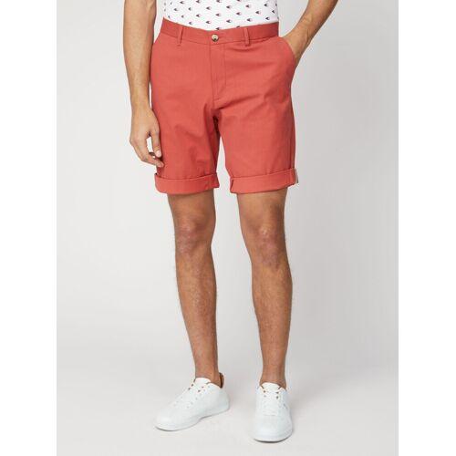 Ben Sherman Signature Teracotta Red Cotton Chino Shorts 36 Teracotta