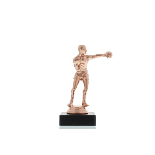 Helm Trophy Figur Boxer 14,5cm bronzefarben