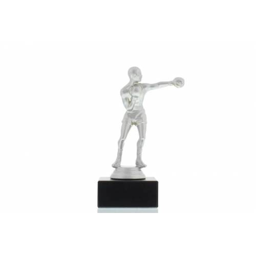 Helm Trophy Figur Boxer 15,5cm silberfarben
