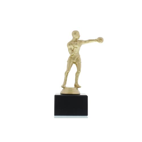 Helm Trophy Figur Boxer 16,5cm goldfarben