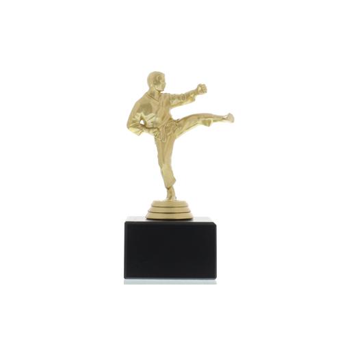 Helm Trophy Figur Karate Herren 15,0cm goldfarben