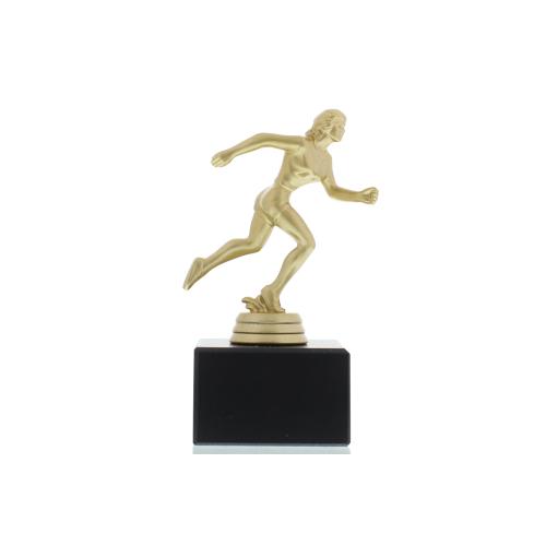 Helm Trophy Figur Läuferin 14,0cm goldfarben