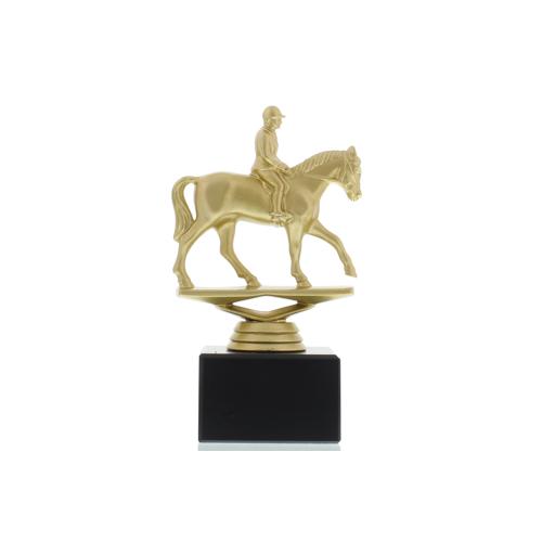 Helm Trophy Figur Reiter 15,5cm goldfarben