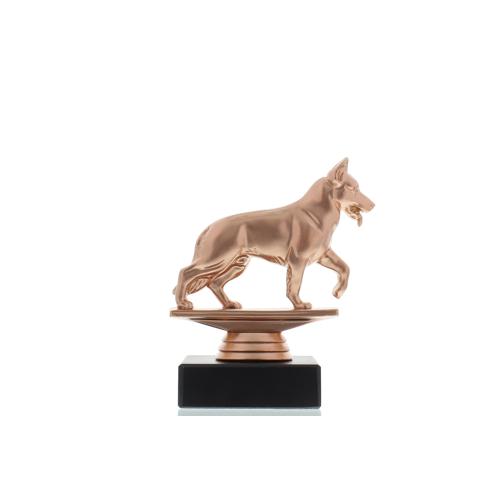 Helm Trophy Figur Schäferhund 12,0cm bronzefarben