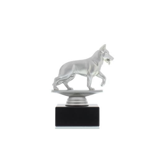 Helm Trophy Figur Schäferhund 13,0cm silberfarben